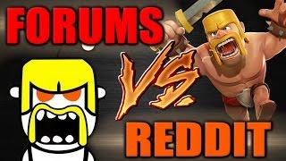 Clash of Clans | FORUMS vs REDDIT War Recap