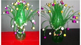Easy DIY Make Empty Plastic Bottle Vase Making Craft Water Recycle Flower New Art