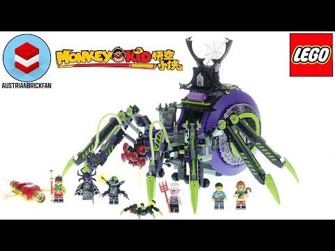 Vidéo LEGO Monkie Kid 80022 : La base arachnide de Spider Queen