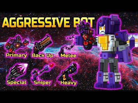 Aggressive Bot SET - Pixel Gun 3D
