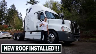 The Freightliner Is Finished!!! New Roof Installed And Painted!