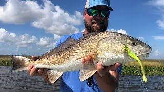I cheated to catch redfish. He didn't.