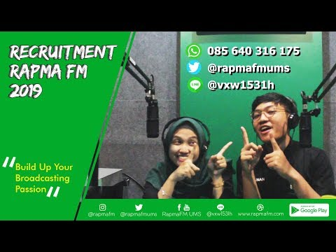 RECRUITMENT - OPEN RECRUITMENT RAPMA FM (2019)