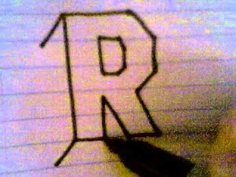 How to draw letter r in 3d? (with pictures, videos) Answermeup