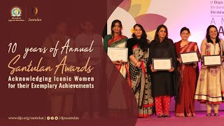 Annual Santulan Awards | Internationally recognized Honor given by DJJS to Iconic Indian Women
