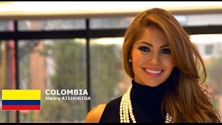 Shirley Atehortua Contestant from Colombia for Miss World 2016 Introduction