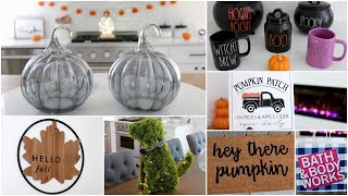 HUGE FALL DECOR + HOME DECOR HAUL | HOMEGOODS, TARGET, BATH & BODY WORKS, JOANNS, RAE DUNN HALLOWEEN