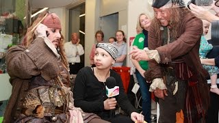 Джонни Депп, Джонни Депп навестил детей в онкологической клинике в Австралии