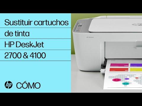 Cómo sustituir los cartuchos de tinta de las impresoras HP DeskJet 2700 y DeskJet Plus 4100