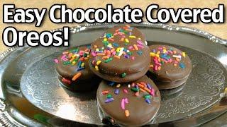 Easy Chocolate Covered Oreos!
