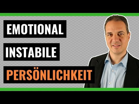 Emotional instabile Persönlichkeitsstörung bei Erwachsenen