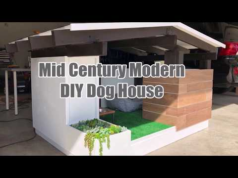 DIY Mid Century Modern Dog House Build