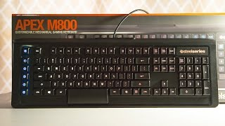Steelseries APEX M800 Keyboard Review | New QS1 Switch is Awesome!