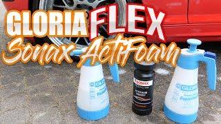 Schaumsprüher Gloria FM10 Flex & Sonax ActiFoam Test|83metoo