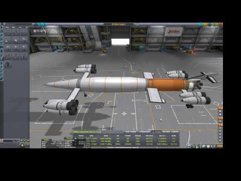 Mun rocket SSTO - no refueling - no NERV - KSP 1 1 2 - игровое видео