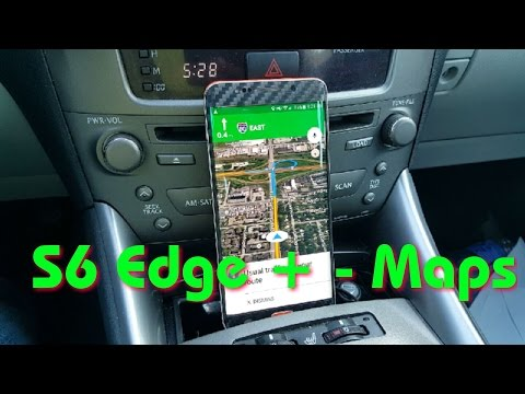 Navigation Google maps – Galaxy S6 Edge +