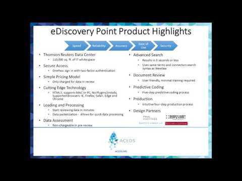 New from Thomson Reuters: eDiscovery Point - YouTube
