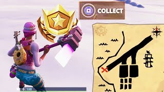 Search the Treasure Map Signpost Found in Paradise Palms & Search the X on Map LOCATION FORTNITE!