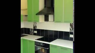 Кухня фото  № 100 алюминиевом профиле цвет Зеленый. от компании Фаберме - видео