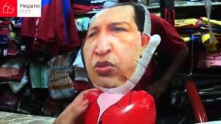 Imágenes de Chávez son un souvenir para los extranjeros