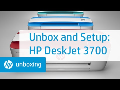 Setting Up an HP DeskJet 3700 Series Printer