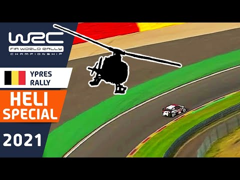 WRC 2021 WRC第8戦 ラリー・ベルギー ヘリ視点で見る上空映像ハイライト動画