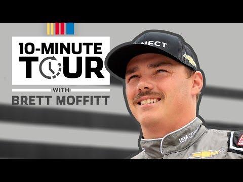 Brett Moffitt visits fans in Pocono infield, goes for a spill