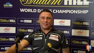 """Gerwyn Price on win over Jamie Lewis: """"It was dead out there, it's like playing in my kitchen"""""""