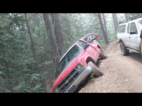 ABANDONED TRUCK ALMOST FALLS OFF CLIFF