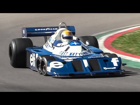 Legendary 6-wheeled 1977 Tyrrell P34 F1 Car at Imola Circuit!