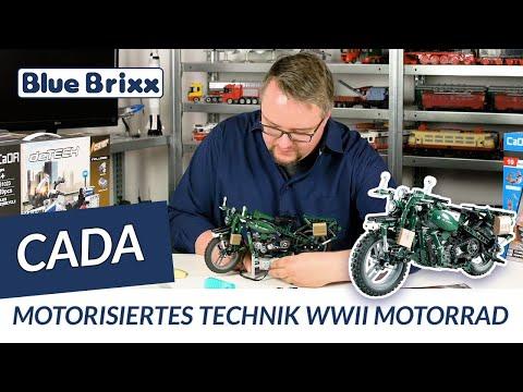 Motorized technic WWII Motorcycle