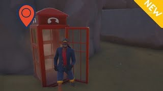 Phone Booth Costume Changer At The Shark Fortnite (Battle Royale)