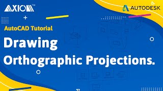 AutoCAD Tutorial: Drawing orthographic projections.