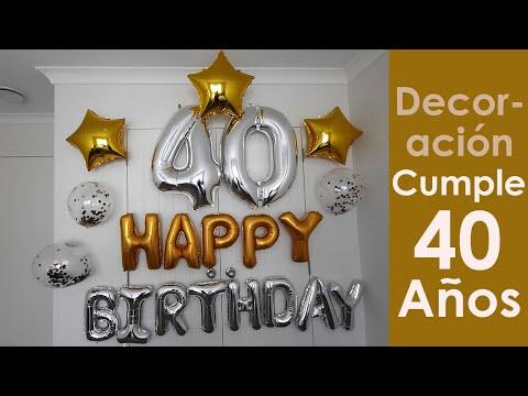 Decoracion Cumpleaños 40 Años
