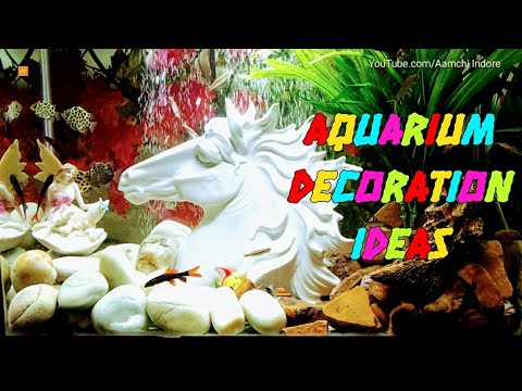 AQUARIUM DECORATION IDEAS II FRESH WATER AQUARIUM TANK AT HOME