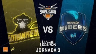 EMONKEYZ VS MOVISTAR RIDERS | Superliga Orange J09 | Partido 1 | Split Verano [2018]