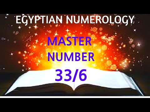 Numerology - What is the Master Number 33/6 Here to Master