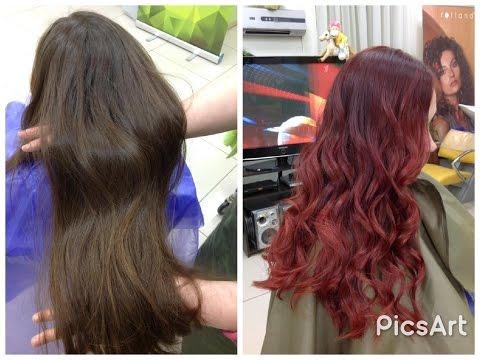 Окрашивание волос в красный цвет // How to make red hair