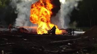 Авария с бензовозом на 21 м километре трассы А 107