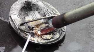 Repair Rare Pot Metal or Zinc Die Cast Belt Buckles at 350℉ with a Propane Torch
