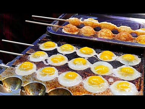 Video Xi'an (China) Street Food - Quail Egg Skewers 鹌鹑蛋串