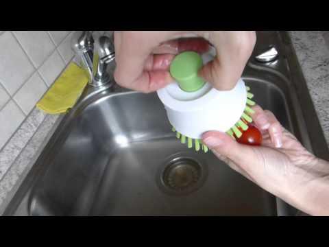 Gemüse bürsten mit Tchibo