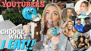 I let YOUTUBERS choose what I eat for 24HOURS in MIAMI!!