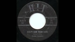 Clara Wilson - Easier Said Than Done