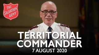 A Message from the Territorial Commander | The Salvation Army