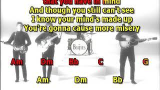 Think For Yourself Beatles best karaoke instrumental lyrics chords