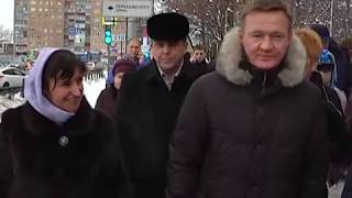 Глава региона Роман Старовойт проверил, как убирают снег на улицах Курска