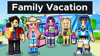 Our FAMILY VACATION in Roblox Livetopia!