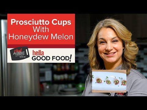 Melon Prosciutto Cup Appetizers