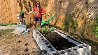How To Build A Concrete Block Garden!
